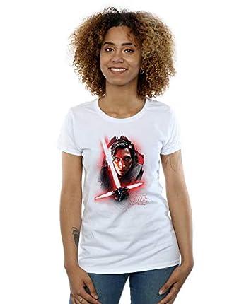 Star Wars La ¨²ltima camiseta Jedi Kylo Ren para mujeres de Star Wars XX-Large White