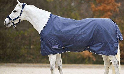 Amesbichler Regendecke mit Deckengurten und Schweiflatz, 125 cm wasserdicht und atmungsaktiv dunkelblau