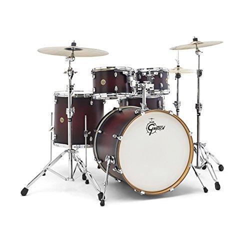 Gretsch Drums Drum Set, Satin Deep Cherry Burst (CM1-E825-SDCB)