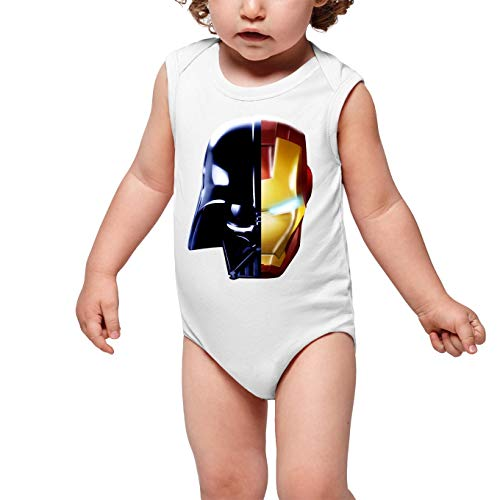 Body bébé sans Manches Blanc Parodie Star Wars - Iron Man - Dark Vador, Iron Man et Daft Punk - Dark Punk - Get Darky : (Body bébé de qualité supérieure de Taille 18 Mois - imprimé en France)