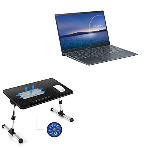 Suporte e suporte BoxWave para ASUS ZenBook 14 UM425UG [suporte de bandeja para laptop de madeira verdadeira] mesa para trabalho confortável na cama. Para ASUS ZenBook 14 UM425UG - Preto