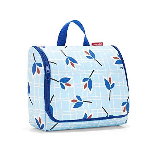 reisenthel toiletbag XL Kosmetiktasche 28 x 25 x 10 cm / 4 l/Polyester Leaves Blue