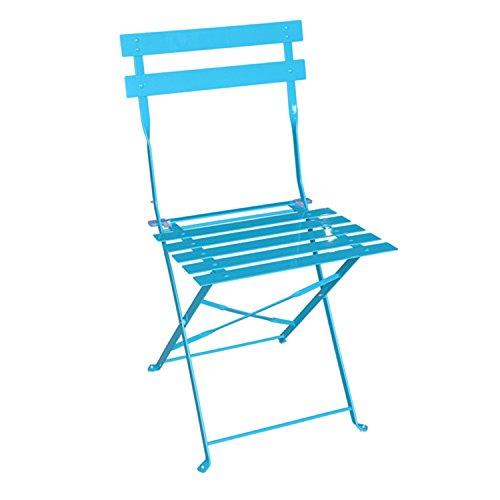 Hespéride Chaise de Jardin Pliante Brillante Camargue - Bleu Lagon