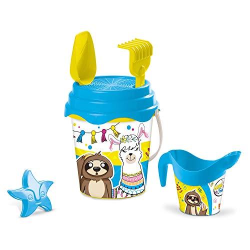 Mondo Toys Llama & Friends Bucket Set, Set Mare Renew Toys con Secchiello, Paletta, Rastrello, Setaccio, Formina, Annaffiatoio Inclusi, 28584