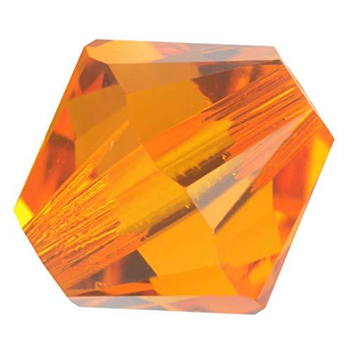 Swarovski Crystal, 5328 Bicone Beads 6mm, 20 Pieces, Tangerine