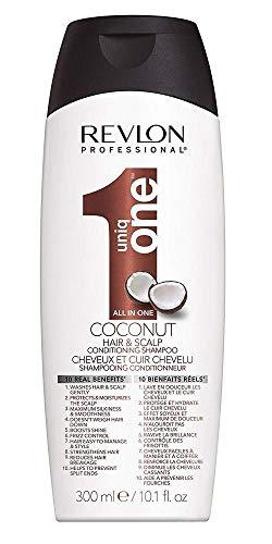 REVLON PROFESSIONAL Uniqone Le Shampoing et Après-Shampoing 2 en 1 pour Tous Types Cheveux 10 Bienfaits Coco Coconut, 300ml