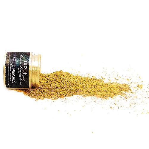 Epoxidharz Farbpigmente Brillant Gold Pearl für Giessharz Beton Seifenfarbe Farbpulver Nail Art UV Gel Autolack Flüssiggummi mit Metallic Perlglanz Effekt Mica Schimmer Pulver Pigmente (25 Gramm)