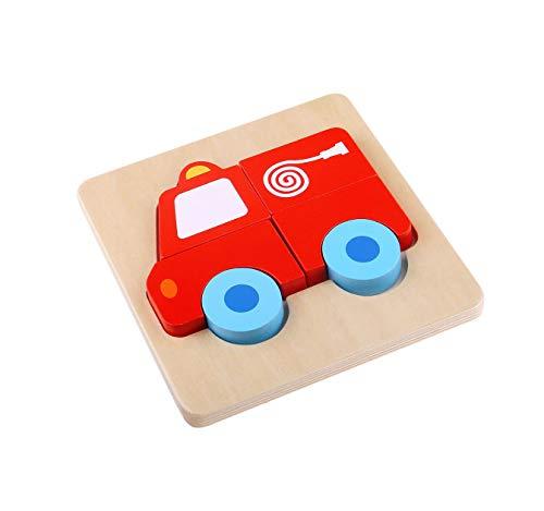 Tooky Toy - Mini Puzzle in Legno, per Bambini dai 3 Anni in su