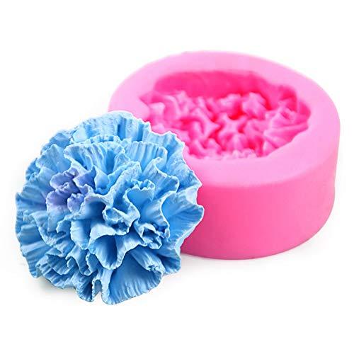 N/Z Molde de silicona con forma de clavel, forma de flor de silicona, molde DIY para fondant, forma de flor, jabón conocido, artesanal, regalo para familia