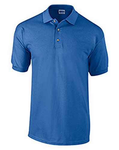 Gildan mens Ultra Cotton 6.5 oz. Pique Polo(G380)-ROYAL-XL