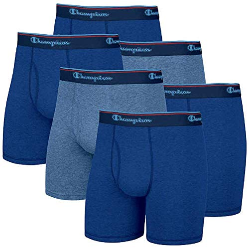 Champion Pack de 6 calzoncillos tipo bóxer Smart Temp para hombre, paquete de 6 (grande, gris)