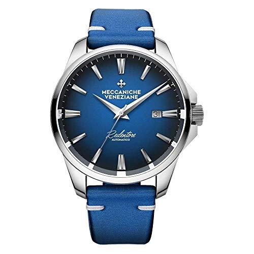 Meccaniche Veneziane Reloj Automático Redentore 4.0 Esfera Azul con Correa de Cuero