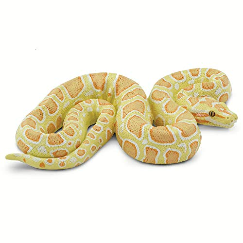Safari Ltd. Incredible Creatures - Albino Burmese Python - Quality Construction from Phthalate, Lead and BPA Free Materials - for Ages 3 and Up