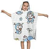 XCNGG Toalla de baño con Capucha Doraemon, Toalla para niño y niña, Capa de Albornoz súper Suave, Adecuada para bañarse en la Playa, tamaño 24 'x 24' Pulgadas.