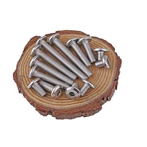 ANSIEDIO Möbel-Bettschrauben Edelstahl Sechskant Schrauben Möbel-Anschluss Schrauben M6×40mm,10 Stück