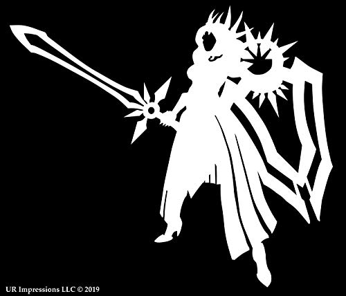 Leona - The Radiant Dawn League of Legends Inspired Decal Vinyl Sticker Graphics|UR Impressions|for Cars Trucks SUV Vans Walls Windows Laptop|White|5.5 X 4.8 inch|URI163