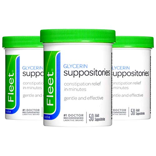 Fleet Adult Glycerin Suppositories 50-Count (3-Pack)