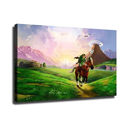 Zelda Ocarina of Time Link - Lienzo decorativo para pared, diseño de enlace, Sin marco, 16x24inch