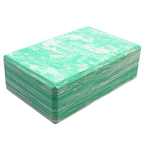 Sebasti Bloques de yoga de espuma de ladrillo EVA camuflaje Yoga Ladrillo Verde Tamaño: 23x15x7.5cm