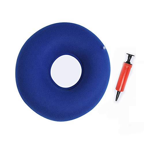 Hemorrhoid Seat,Relief Pain Lumbar Support Comfortable Pillows for Seat Home Textile Inflatable Ring Round Medical PVC Seat with Pump