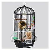 Bolsa de viaje Bird Jaula de pájaro colgando loro pájaro jaula casero budgerigar vivo pájaro jaula domo cría jaula canario periquito amor pájaro Jaula de viaje para pájaros ( Color : Black )