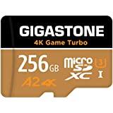 【支持5年數據恢復】【Nintendo Switch】 Gigastone Micro SD卡 256GB Micro SD Card, 4K Game Turbo, A2規格 100/60 MB/s, Full HD & 4K UHD拍攝 UHS-I MicroSDXC A2 U3 V30 Class 10 MicroSD卡 帶適配器