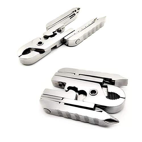 Multi-functional Outil Pince Tech Pliante Keychain Portable Mini Extérieur Combinaison Tournevis, Décapsuleur Et Tournevis Et Pince à Dénuder Et Pouces Règle Et Carte SIM Clip 15 Vers 1