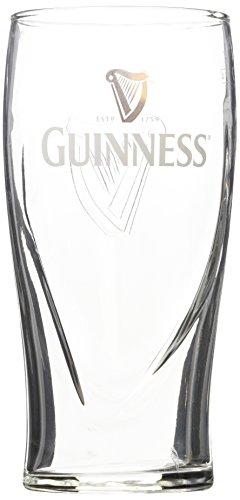 Guinness Pint Glas mit geprägter Harfe (20oz offizielles Glas)