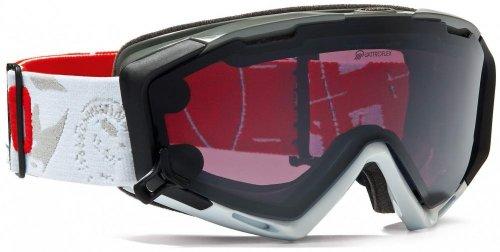 Alpina A7087012 Panoma S Magnetic Brillenträger Skibrille (Farbe: 012 weiß/hellgrau, Scheibe: QUATTROFLEX/SINGLEFLEX schwarz)