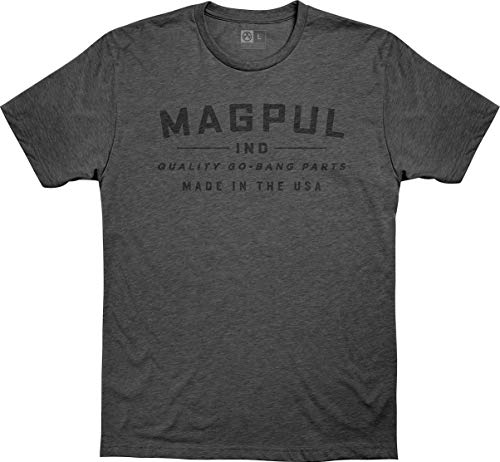 Magpul Men's Go Bang Parts CVC T-Shirt, Charcoal Heather, Large