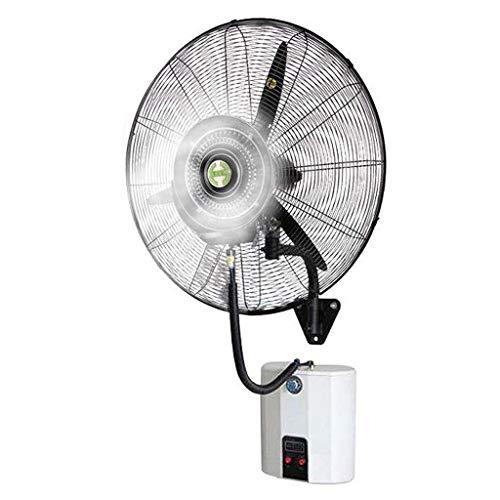Ventiladores Ventiladores de bocina montados en la Pared de atomización, Ventilador de nebulización eléctrico oscilante con circulador con un Potente Motor para Uso Comercial Industrial y en o