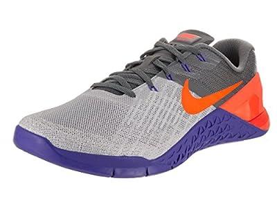 Nike Mens Metcon 3 Training Shoes Track Wolf Grey/Tart/Paramount Blue 852928-003 Size 13