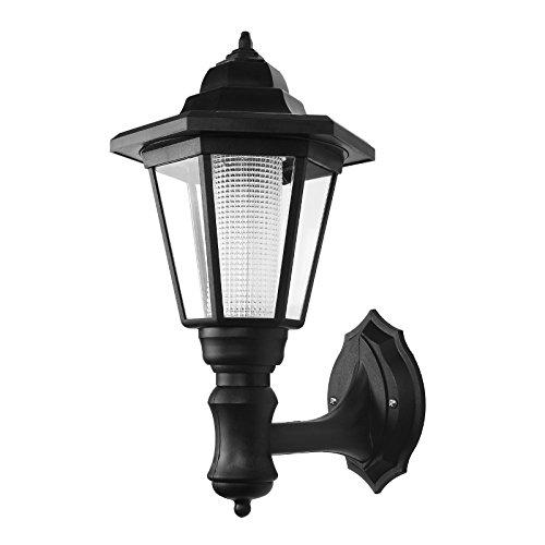 LemonBest® - Solar-Wandlampe für den Außenbereich und Garten, Schwarz