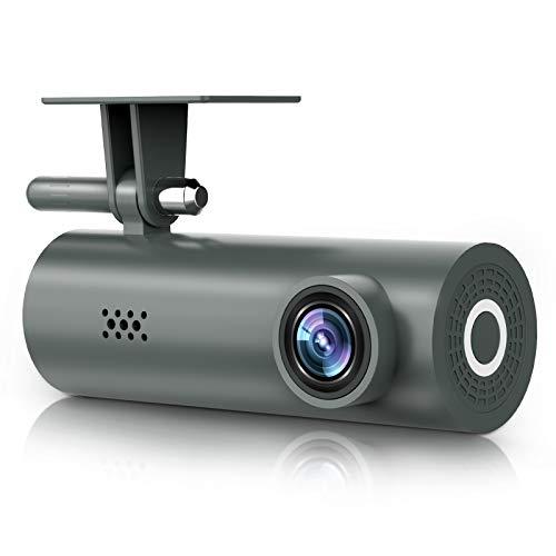 DEKNEI Dash CAM, cámara de salpicadero 1080P Full HD con conexión WiFi, cámara de Seguridad de Coche HDR Gran Angular de 170 ° para Coches con visión Nocturna, grabación en Bucle, Sensor G