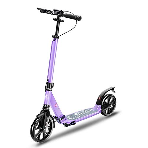 For Sale! Lcxliga Kick Scooter, Adult Scooter, Teen Scooter (Color : Purple)
