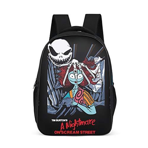 Nightmare On Scream Street - Mochilas para niños y niñas, libros escolares, para colegio, ordenador portátil
