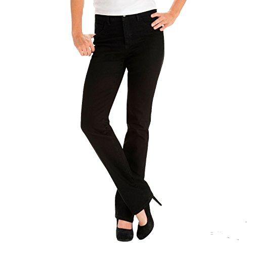 Lee Women's Classic Fit Monroe Straight Leg Jean - Petite, Black - 2 x P