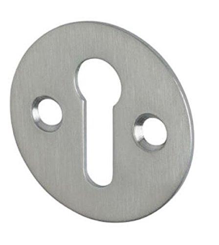 Zoo Hardware Schlüsselloch-Rosette, viktorianisches Standardprofil, 32 mm, mit Schrauben (satiniertes Chrom)