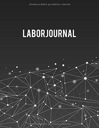 Laborjournal: Laborbuch / Labortagebuch / Labor Notizbuch für Chemiker, Physiker, Biologen, Mediziner, Laboranten, ca. A4, kariert mit ... geometrisches Muster / abstrakte Moleküle