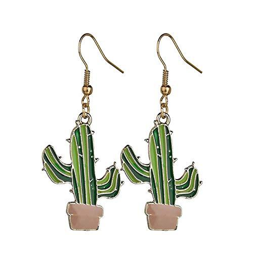 Kaktus Ohrringe niedlichen Kokosnussbaum Ohrringe Cartoon Ohrringe Ohrringe Pflanze hypoallergen Anti Allergie leichte Anhänger sauber gearbeitet Student Kinder Dame Schmuck Ohrring