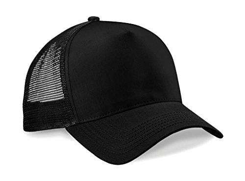 Beechfield, Trucker-Cap für Herren, zur Hälfte aus Netzstoff Gr. Einheitsgröße, schwarz / schwarz