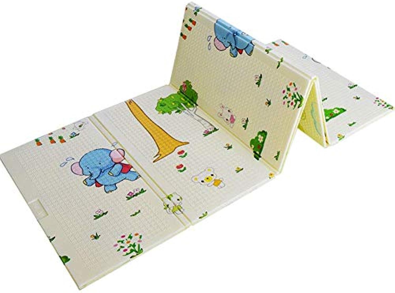 QNJM Reversible Krabbeldecke, wasserdichte Babyschaum-Krabbeldecke, Ungiftige Klappbodenmatte, XPE-Schaum-Yoga-Gymnastikmatte (Größe   200×180×1cm)