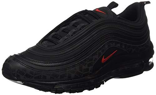 Nike Air MAX 97, Zapatillas de Gimnasia Hombre, Negro (Black/University Red/Black 001), 42 EU