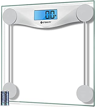Etekcity Digital Body Weight Bathroom Scale Large Blue LCD Backlight Display High Precision Measurements,6mm Tempered Glass 400 Pounds