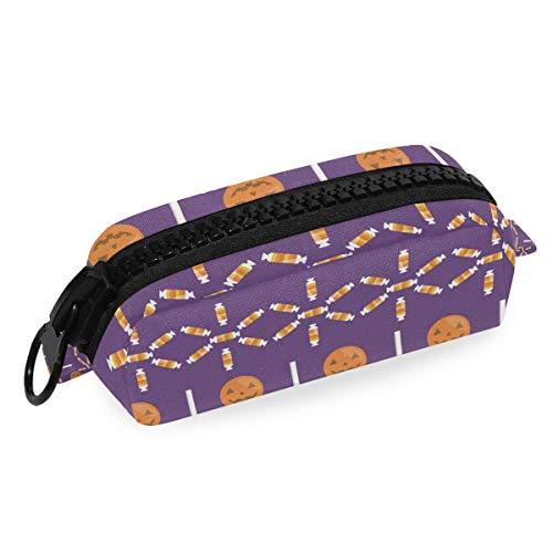DEZIRO Make-up Bag Reizen Cosmetische Tas Hallowmas Pompoen Snoepjes voor Vrouwen Meisjes Make-up Borstels Tas
