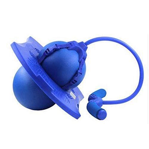 Juguete rebotante Polo hinchable Pogo Stick Jumping Zancos divertido juego seguro Fly Jumper Air Tritts fomenta sonidos activos Screaky zapatos de salto gimnasio deportes azul