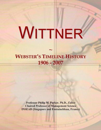 Wittner: Webster's Timeline History, 1906 - 2007