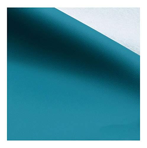 wangk Tela de Polipiel para Tapizar Tela de Imitación de Cuero Parche Cuero Ancho 138cm Tela por Metros de Polipiel para tapiza para Sofá Asiento de Coche Muebles Chaquetas -Azul 6# 1.38x7m
