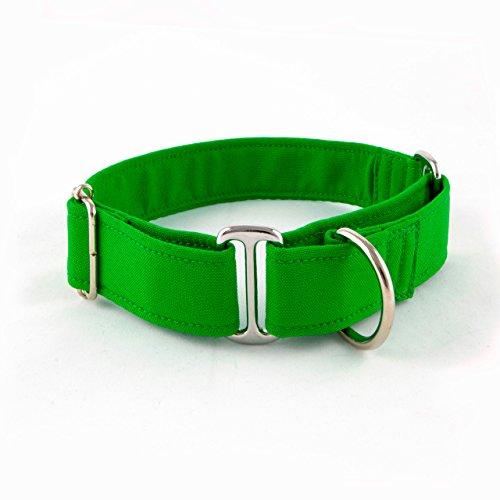 Galguita Amelie, 3cm Ancho Talla M (30cm - 39cm), Collar para Perro antiescape. Verde.