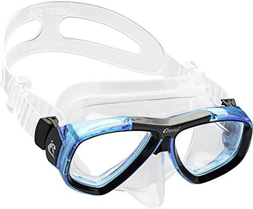 Cressi Tauchmaske Erwachsen Focus Optische Gläser Möglich Gafas de Buceo, Unisex, Transparente/Azul Claro